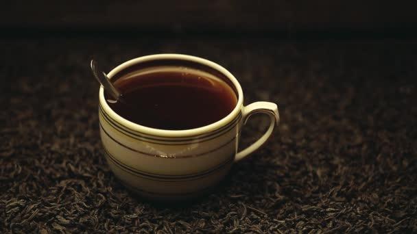 hot black tea cup nobody hd footage
