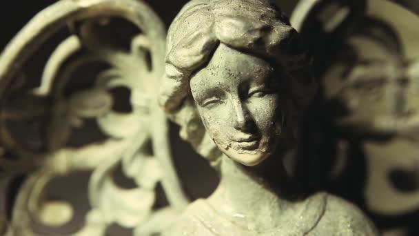 kapky vody socha anděla hd záběry