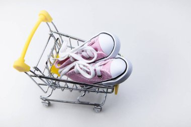 image of trolley shoes white background