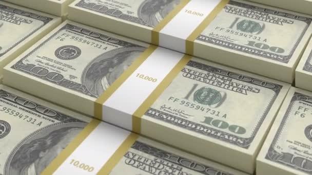 Bündel amerikanischer Dollarscheine des alten Musters