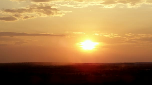 A Panoramic View of the Sun Setting Above the Zambia Safari