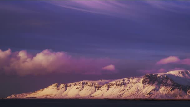 Purple Sunset Over ledovec Hora