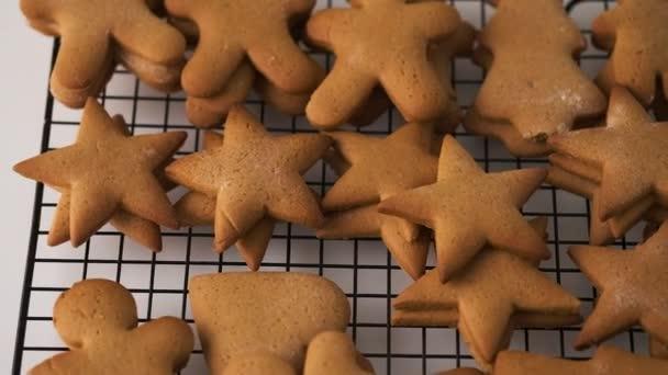 Christmas gingerbread cookies. Stars, little men, Christmas trees. Holiday. Christmas. Family.