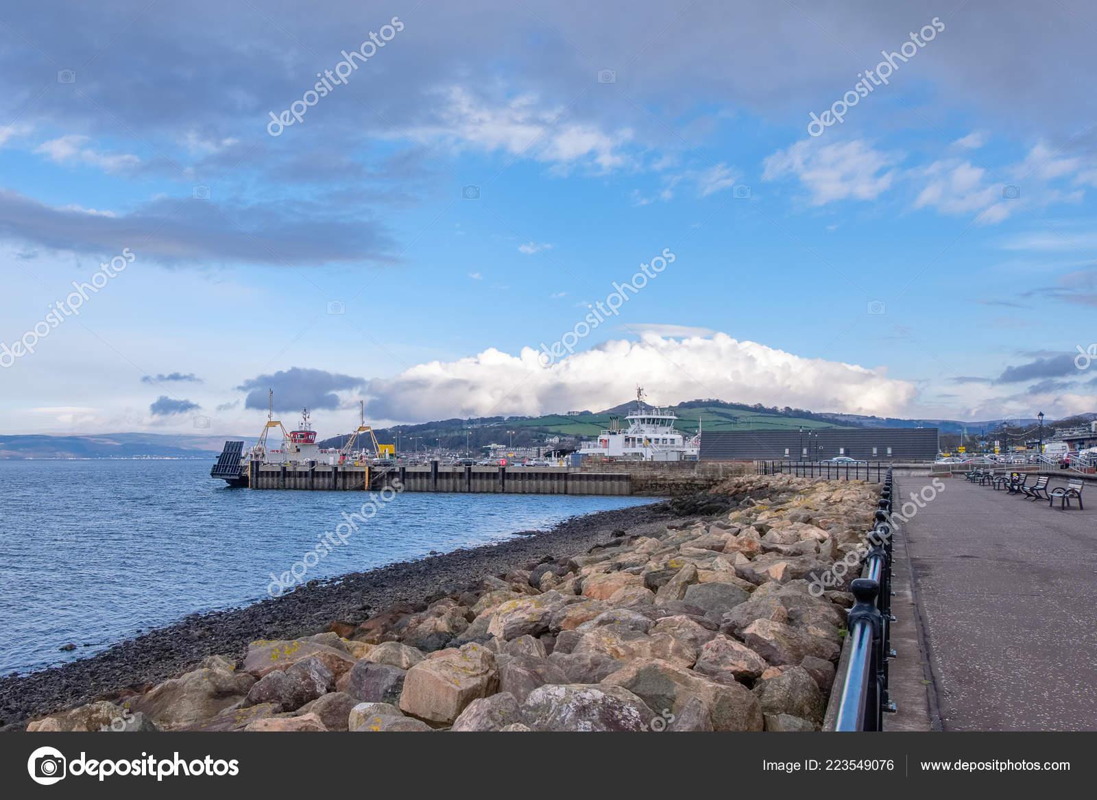 Looking Sea Defences Pierhead Largs Coastal Town Est Scotland