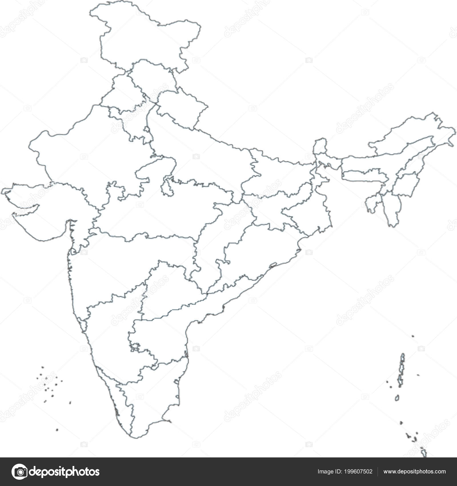 Pictures : india outline map with states | India Outline ... on india river map, india south asia map, texas county map black and white, india political map, river clip art black and white, india map with latitude and longitude, india map with city,
