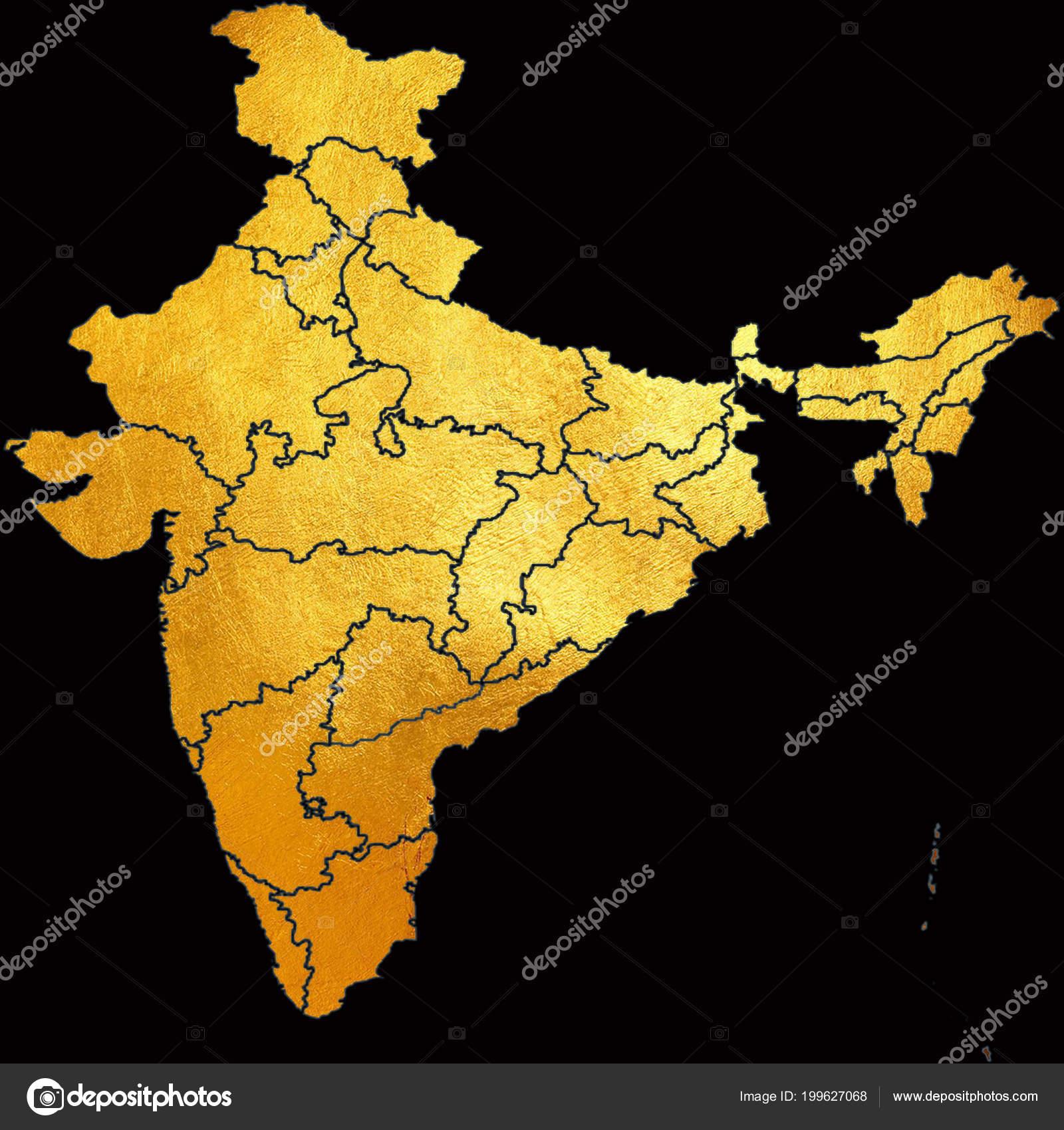 Carte Asie Inde.Carte Inde Asie Avec Tous Les Etats Contour Pays Dans