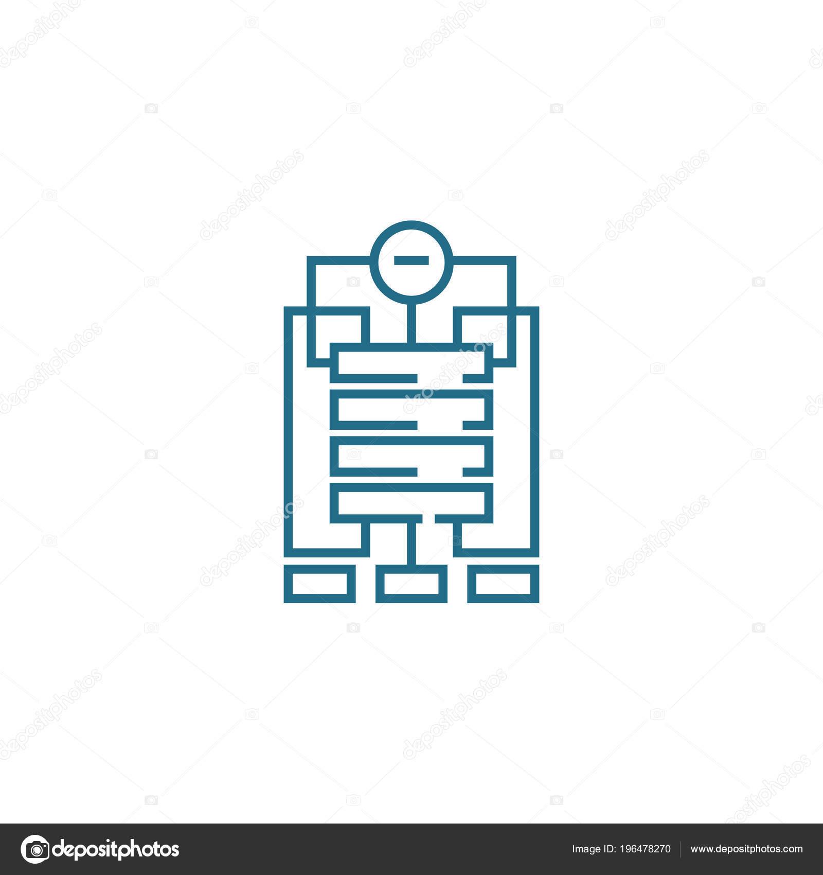 Concepto De Icono Lineal De La Estructura De La Empresa