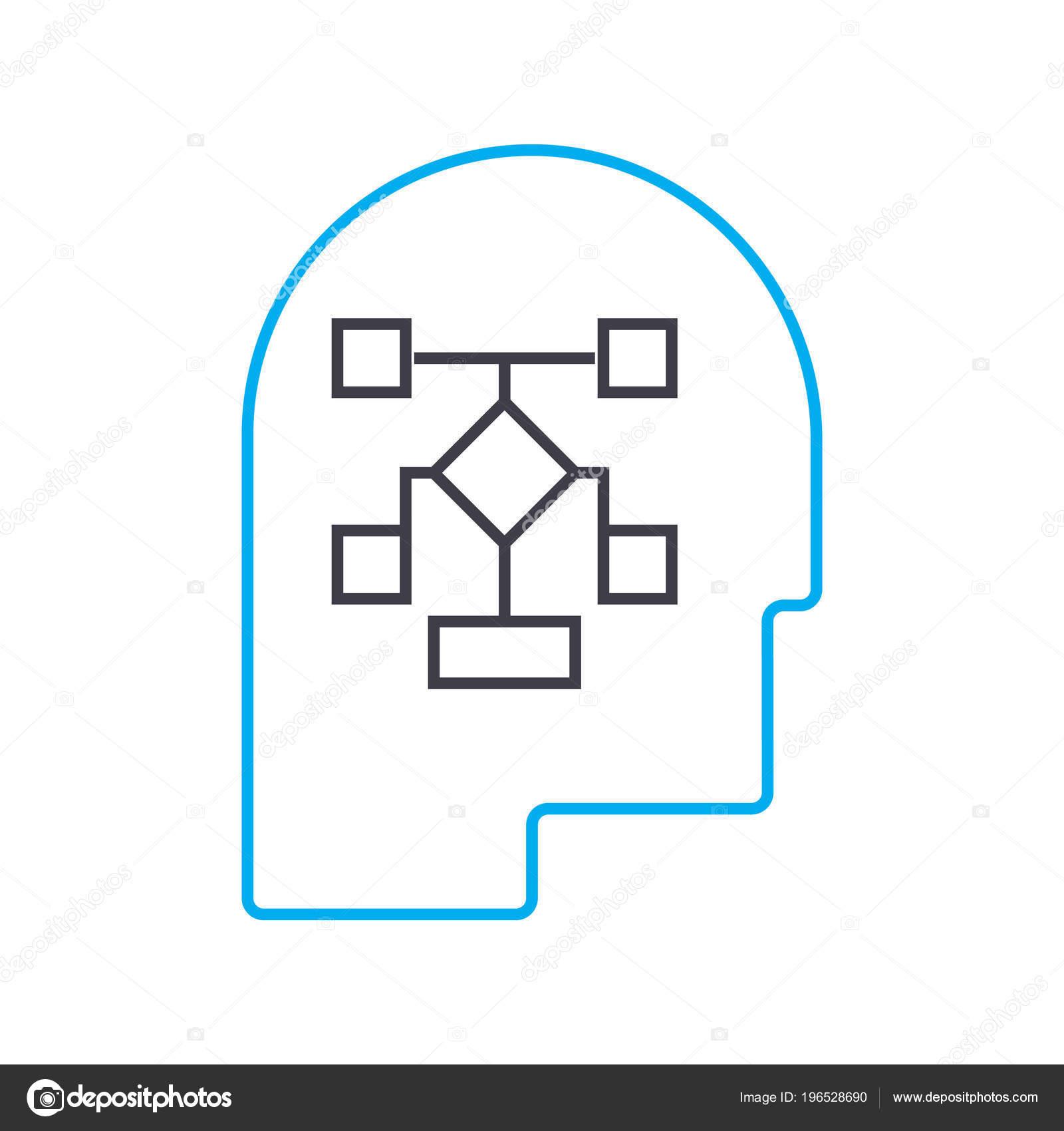 Desarrollo Del Concepto De Gestión Estructura Lineal Icono