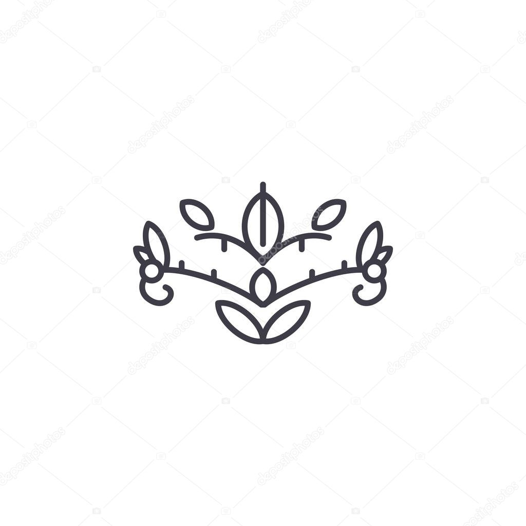 Soapwort line icon concept. Soapwort flat vector sign, symbol, illustration.