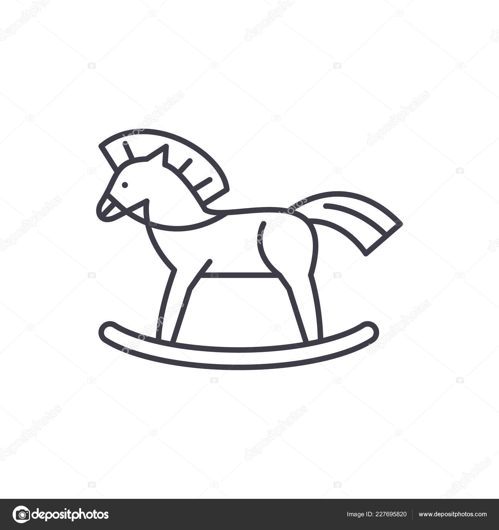 Baby Horse Line Icon Concept Baby Horse Vector Linear Illustration Symbol Sign Stock Vector C Iconsgraph 227695820