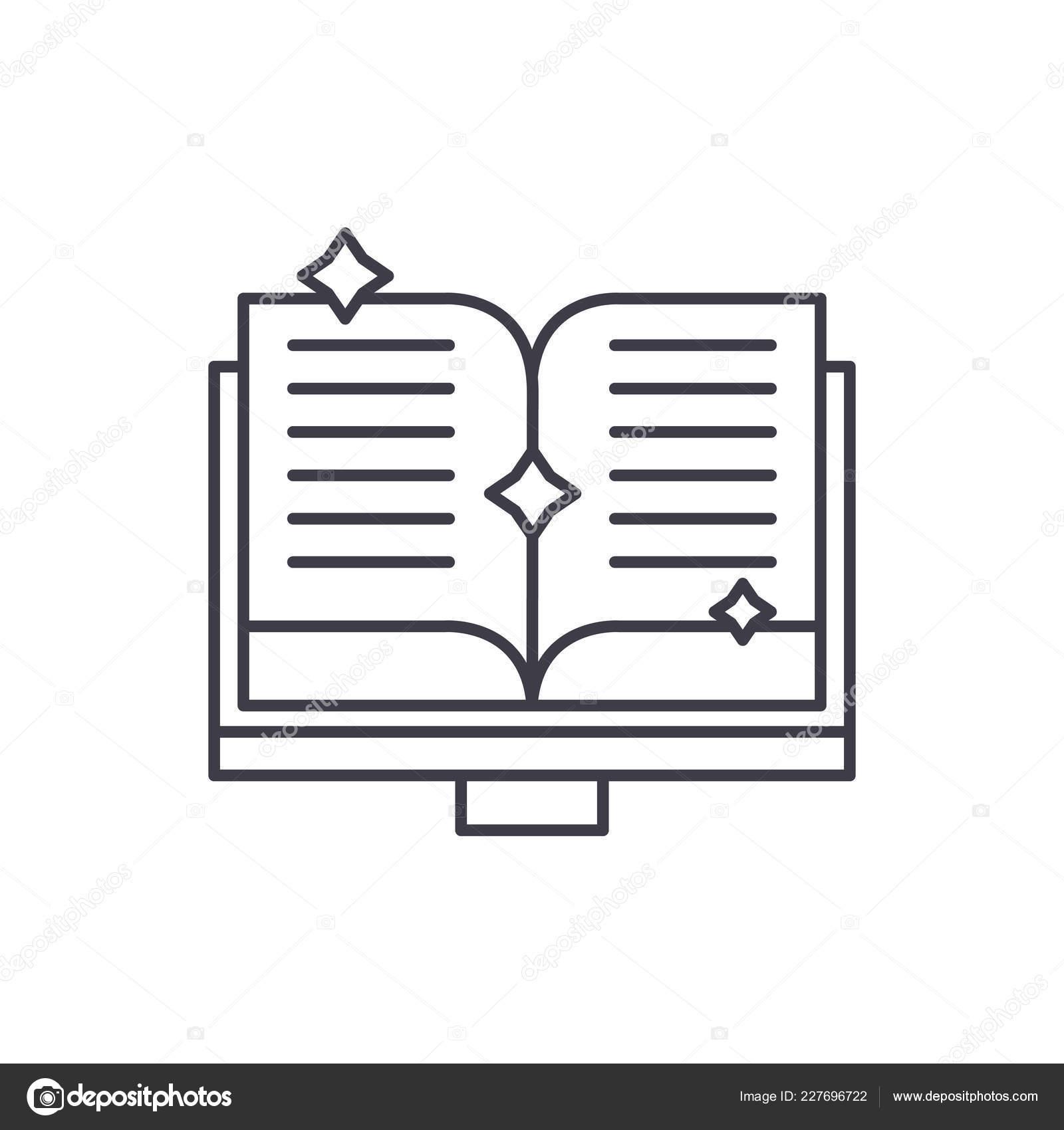 Livre Du Concept D Icone Ligne Fairy Tales Livre De Contes