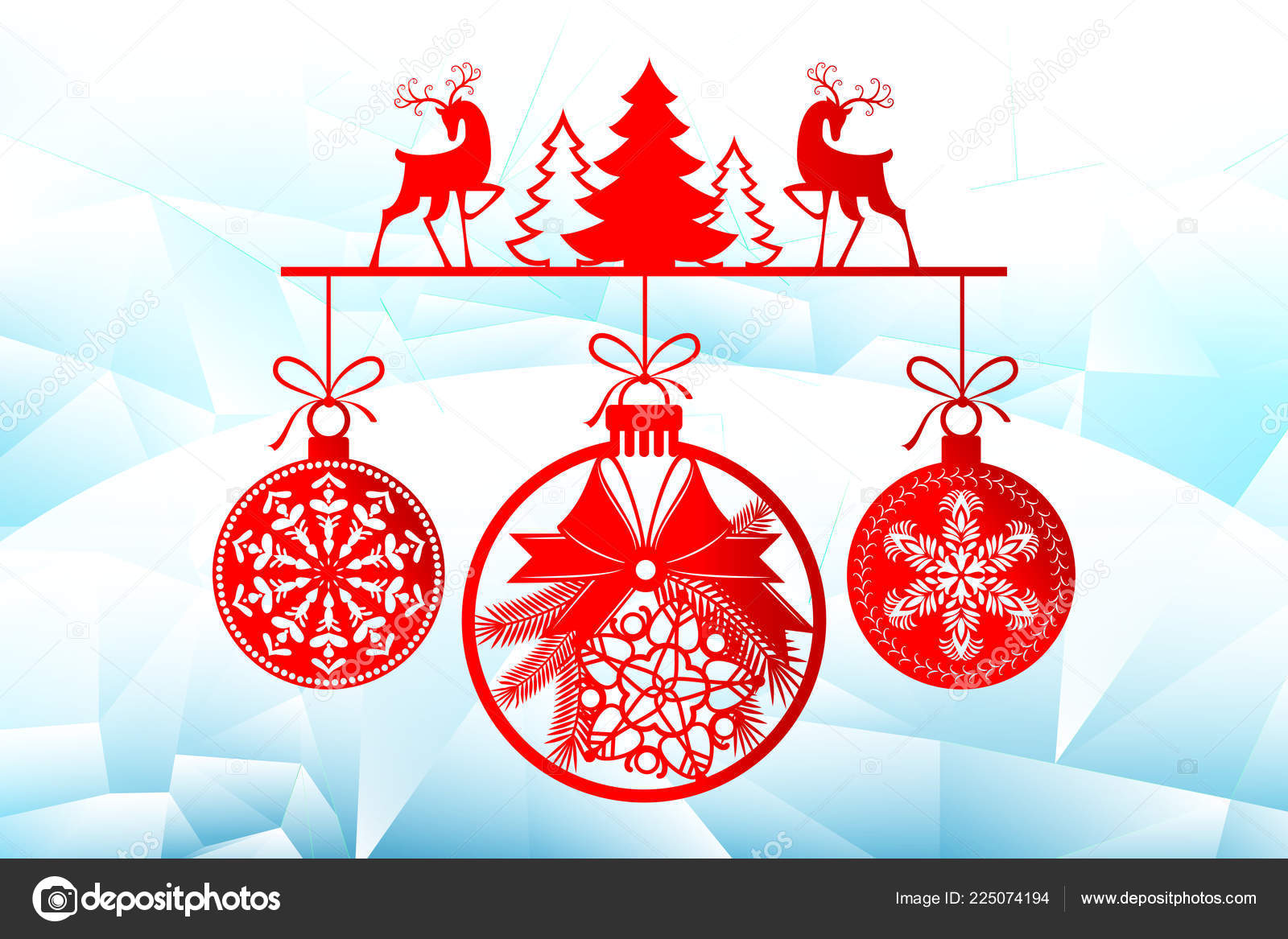 new year christmas laser cutting templates holiday decorations in 2019 on an icy background
