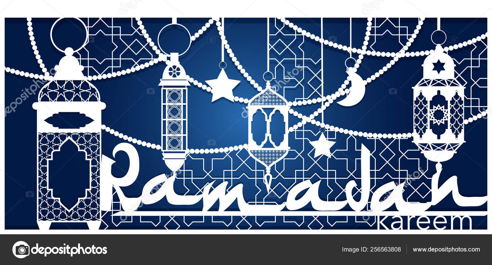 Ramadan Kareem Plantilla De Corte Láser Tarjeta De