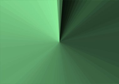 Abstract modern green background with stripes extending from the center