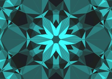 Vintage decorative background with geometric abstract kaleidoscopic symmetrical pattern