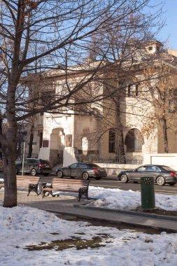 Moscow, Russia - February 16, 2019. Ryabushinsky mansion on Malaya Nikitskaya street in Moscow