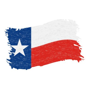 Flag of Texas. Grunge Abstract Brush Stroke Isolated On A White Background. Vector Illustration.