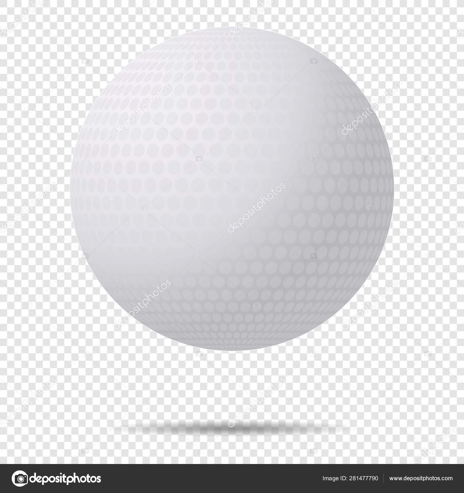 Vector Golf Ball With Shadow With Classic Design Isolated On Transparent Background Vector Illustration Stock Vector C Nbargan Mail Ru 281477790