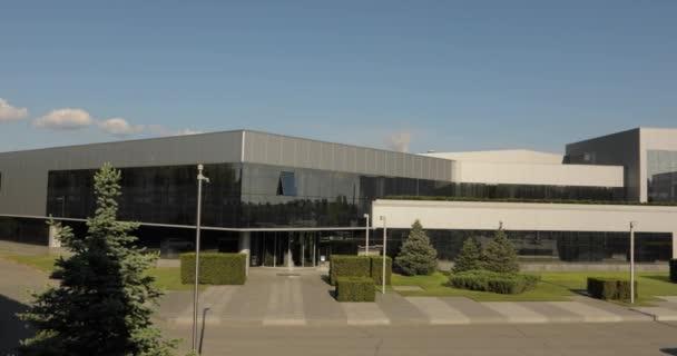 Extérieur dun grand bureau moderne usine ou à lusine industriel