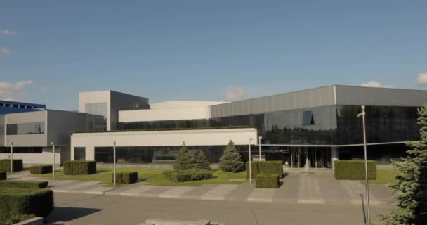 exterior moderno almacén o fábrica, plantas de fabricantes de