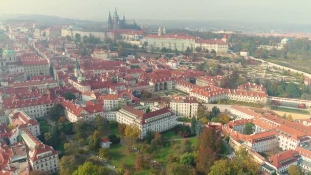 Panorama Praha, Pražský hrad a řeku Vltavu, Česká republika, Praha