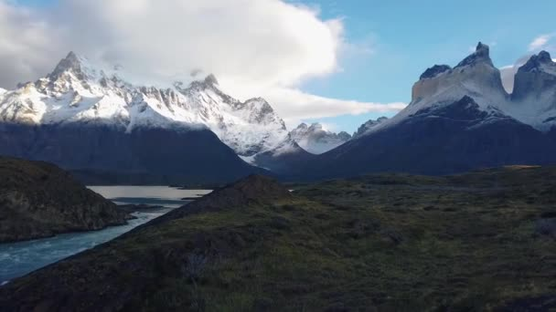 National park Torres del Paine. View of Mount Cerro Payne Grande and Torres del Paine