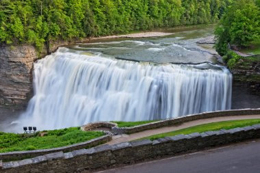 The Middle Falls At Letchworth State Park In New York.  Sometimes Known At The Grand Canyon Of The East