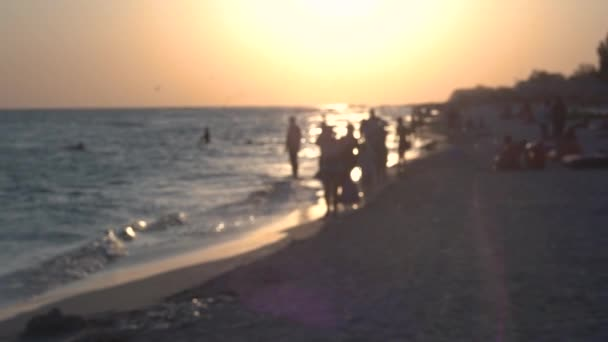 Costa del mare al tramonto