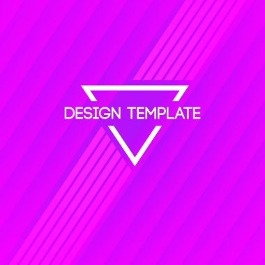 Abstract creative concept layout template. Trendy cover, card, flyer, poster design with diagonal lines. Vector Illustration. Pink, purple colors. Modern stylish pattern.
