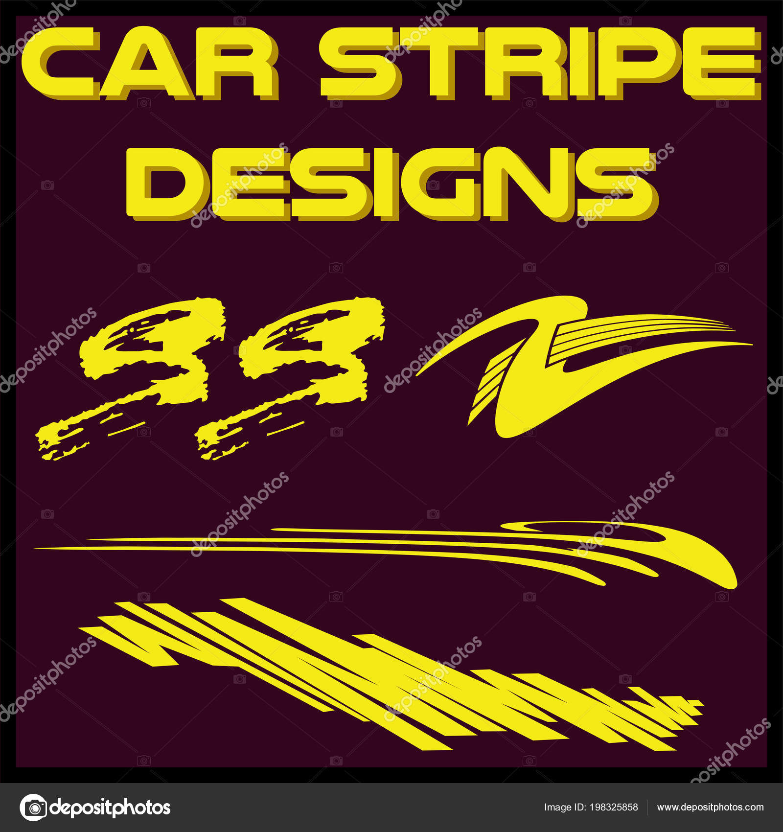 Tribal cool car stripe design set adhesive vinyl sticker designs stock vector