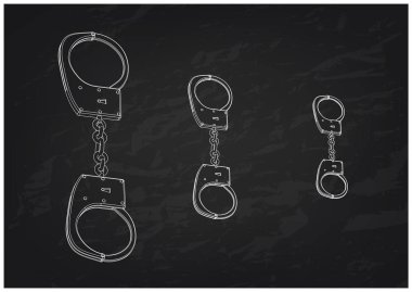 3d model of handcuffs on a black