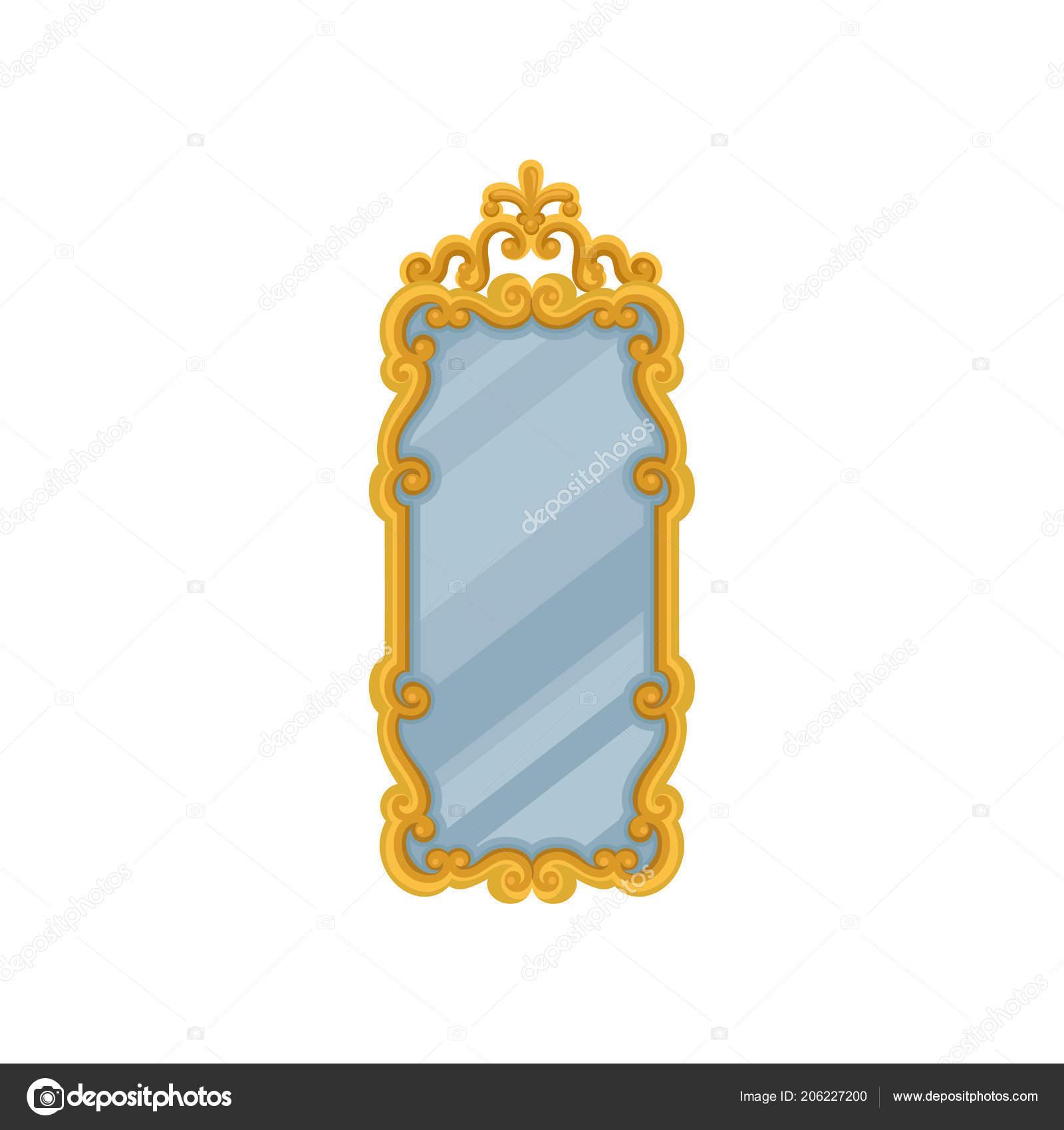 Espejo de pared rectangular grande con oro marco for Espejo rectangular grande