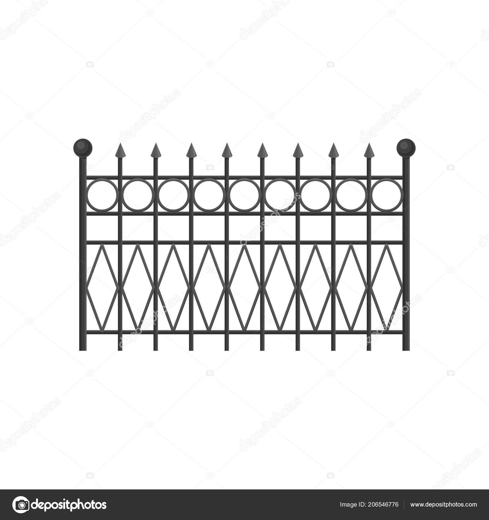 Clôture en fer forgé, barrière de protection pour la maison, jardin ...
