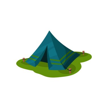 Camping tent, outdoot raveling element vector Illustration on a white background
