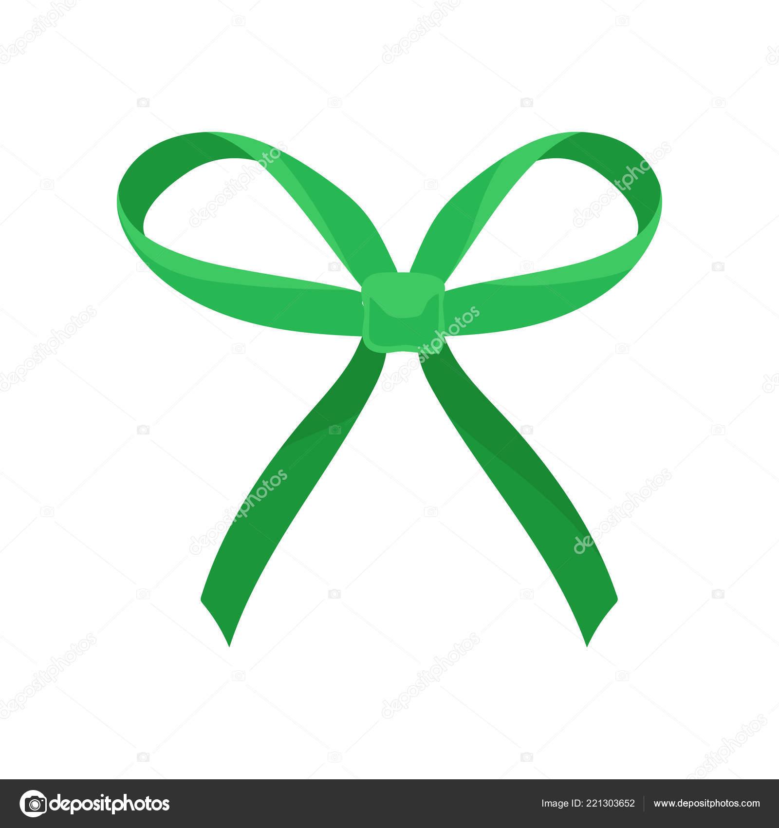 Světle Zelené Hedvábné Luk Velkým Poutkem Dlouhé Končí Vlasové Doplňky —  Stockový vektor daa5727309