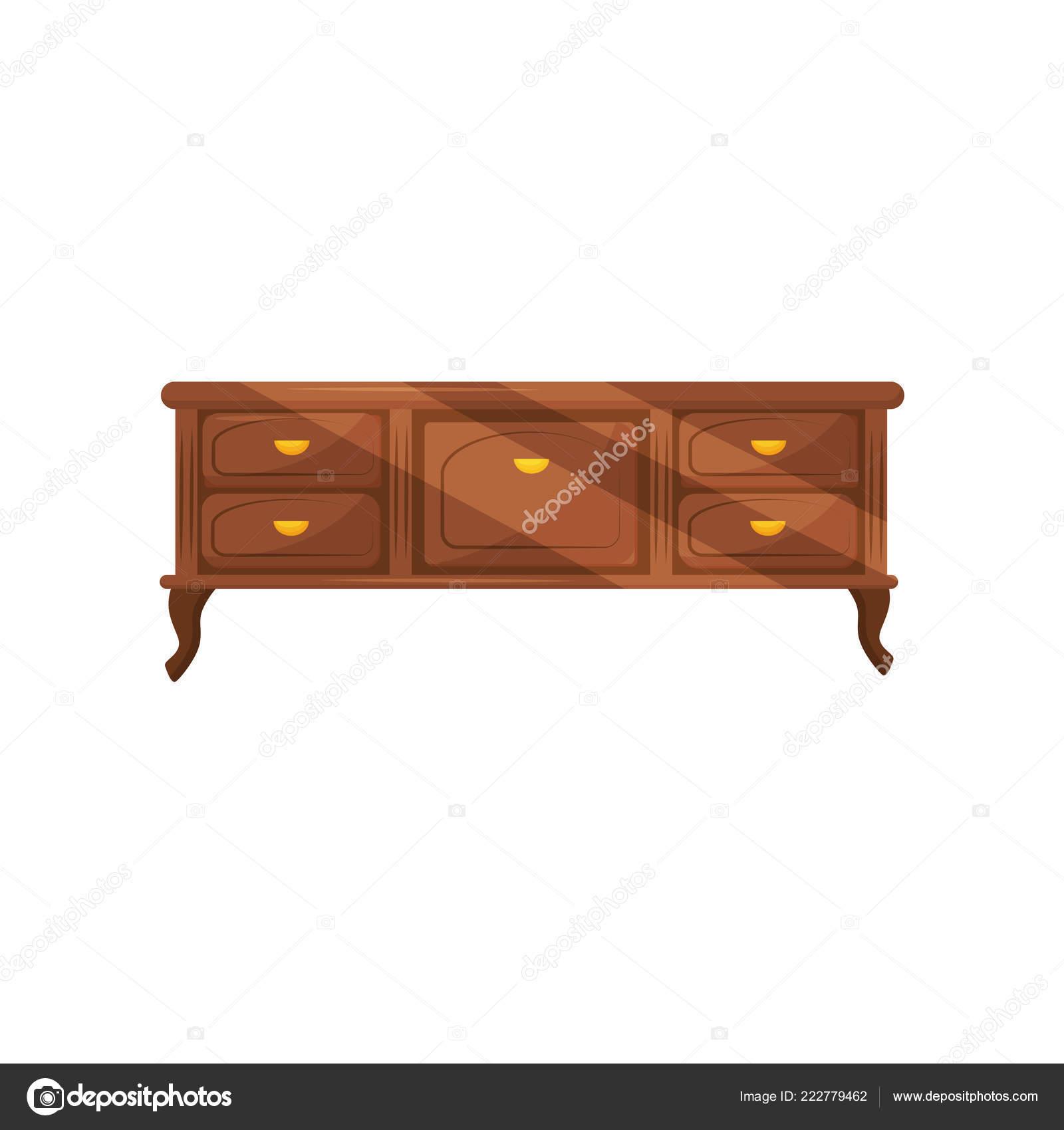 Klassische Kommode Mit Goldenen Griffen Vintage Möbel