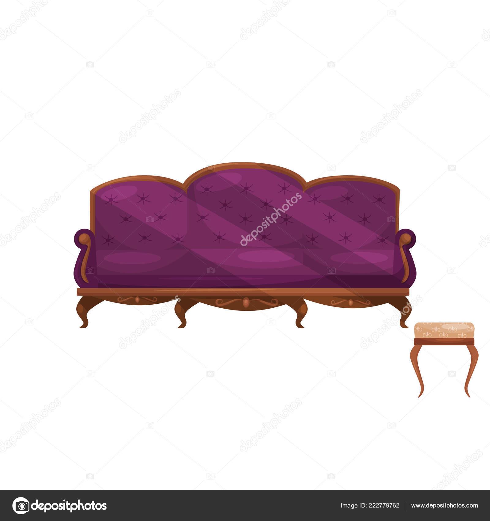 Liege mit lila samt trim und Stuhl mit Beige trim ...