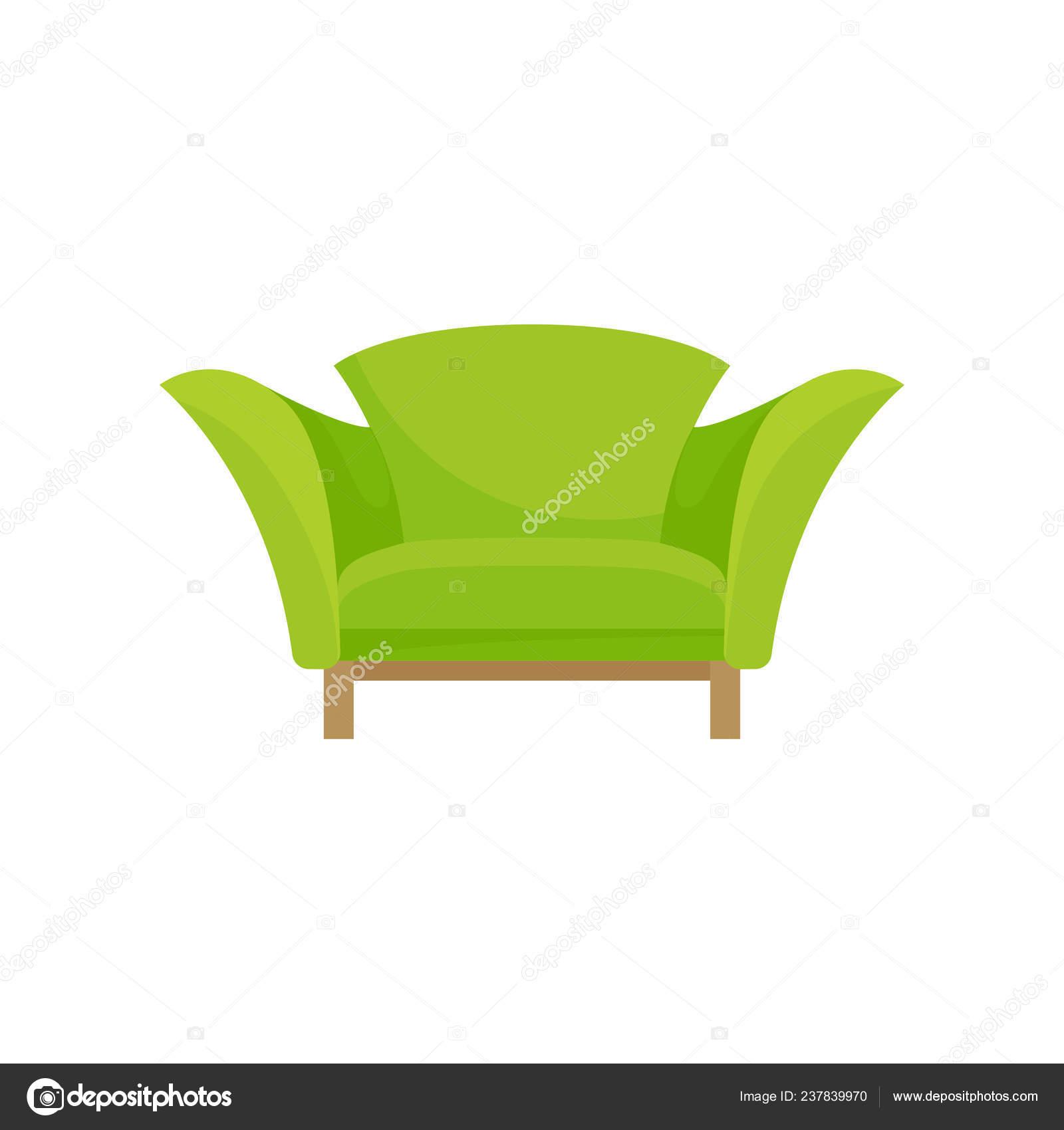 Fauteuil Moderne En Vert Avec Pieds En Bois Confortable Chaise Doux