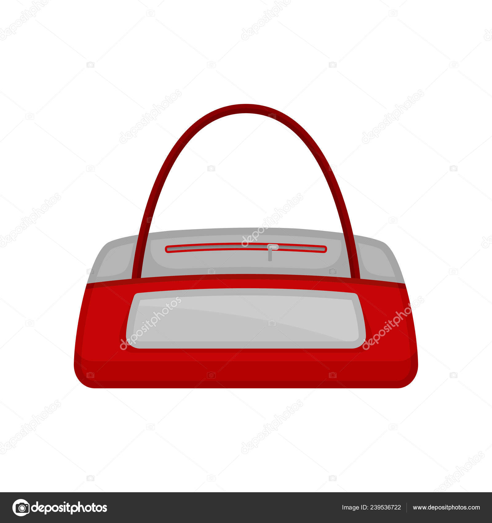 Icon of gym duffel bag in red-white color. Bag for carrying sports clothes c2cc2cebb0bef