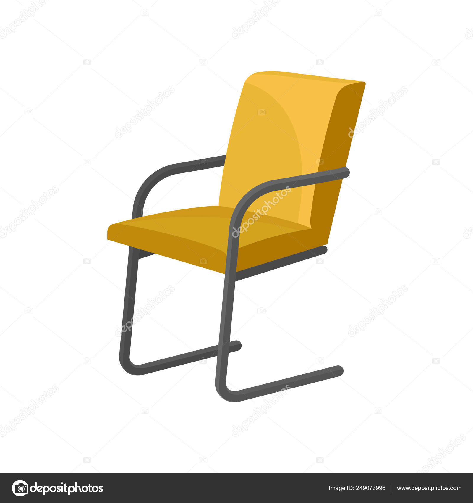 Remarkable Modern Chair With Bright Yellow Upholstery Metal Legs And Machost Co Dining Chair Design Ideas Machostcouk