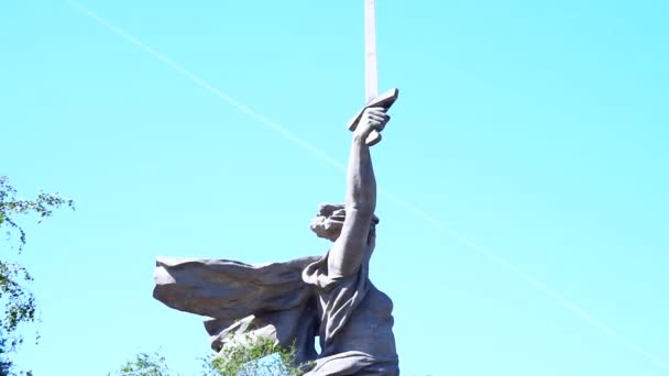 Volgograd, Russia-July 14, 2019: statue of mother Motherland Volgograd Mamaev Kurgan