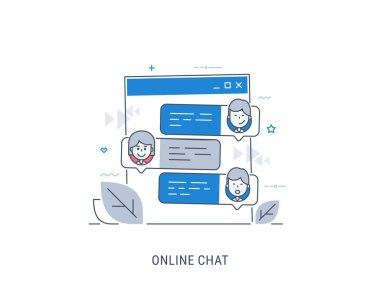 Online chat vector illustration.