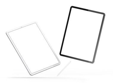 Tablets in the new version. stock vector