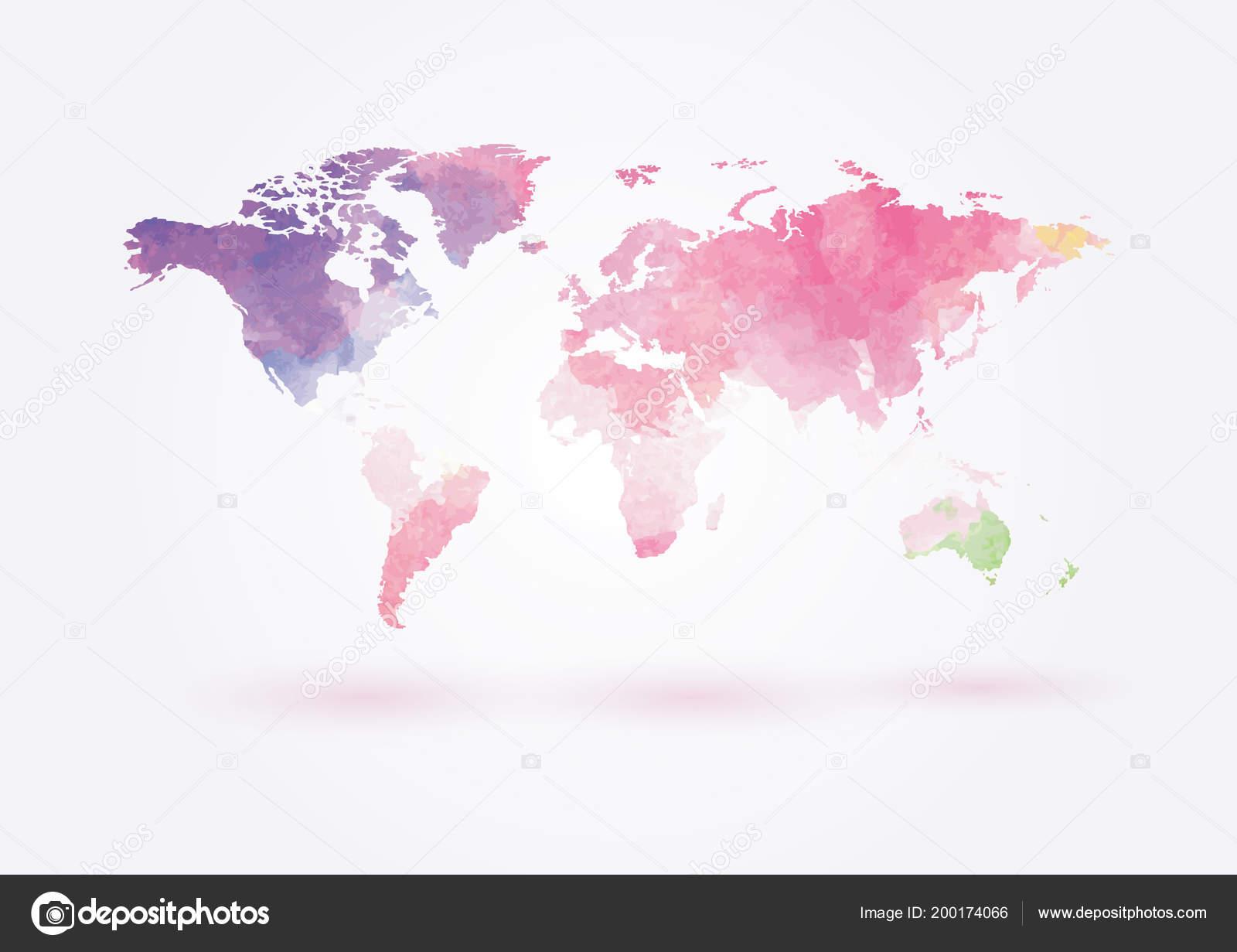 Vector world map watercolor style vector de stock brazzik 200174066 vector world map in watercolor style vector de brazzik gumiabroncs Images