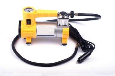 car compressor on a white background.