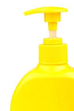 liquid soap in the bottle.