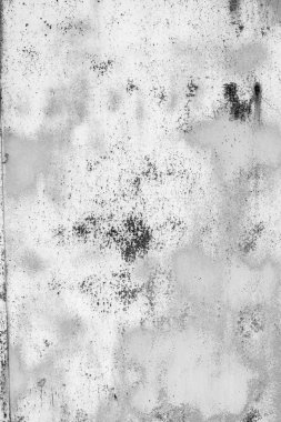 White metal wall texture background with scratches and cracks