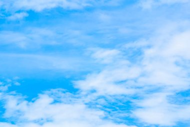 Blue sky with white clouds in the late rainy season.