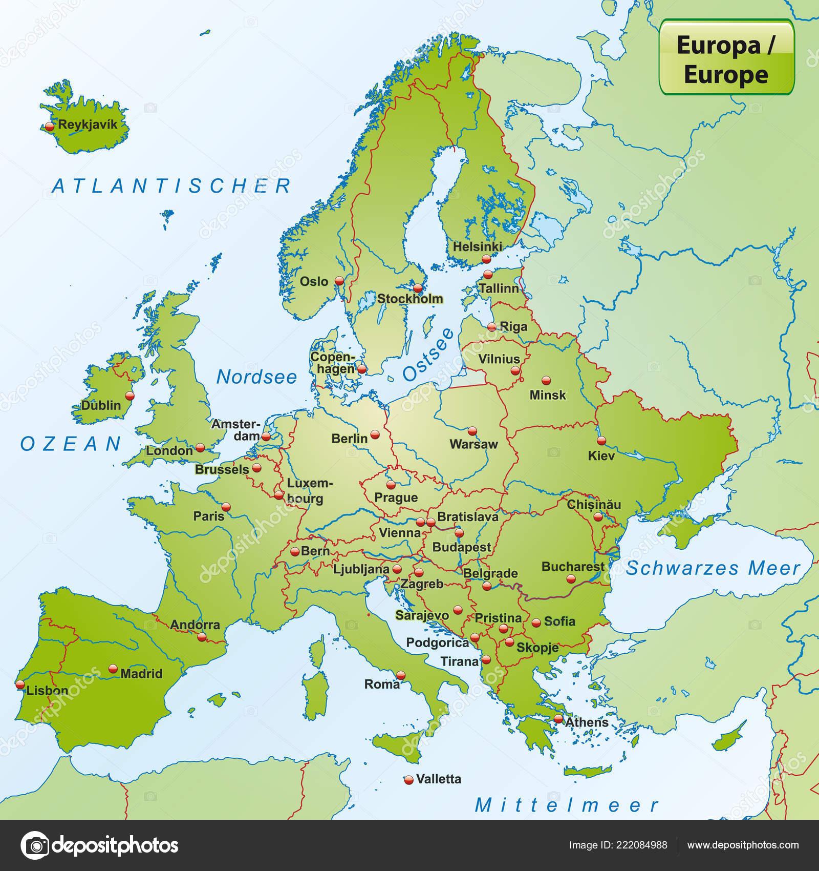 La Carte Deurope Avec Les Villes