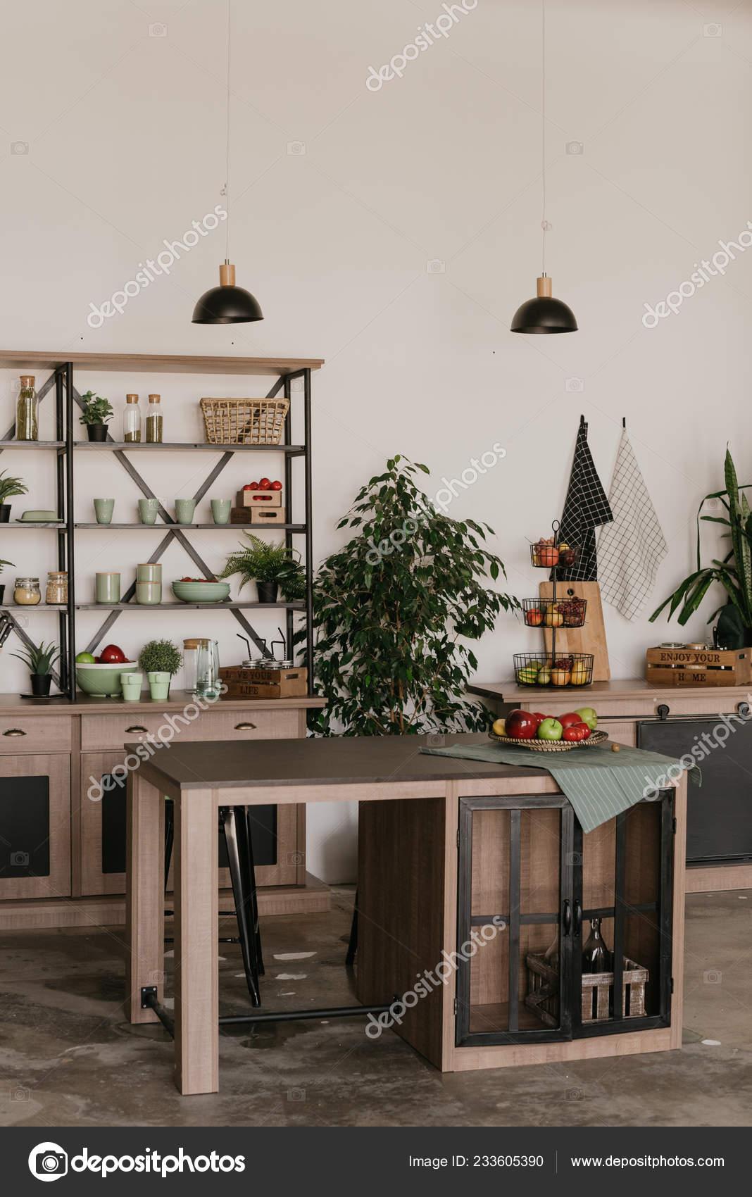 Interiér Kuchyně Retro Stylu Stock Fotografie Sweetphoto